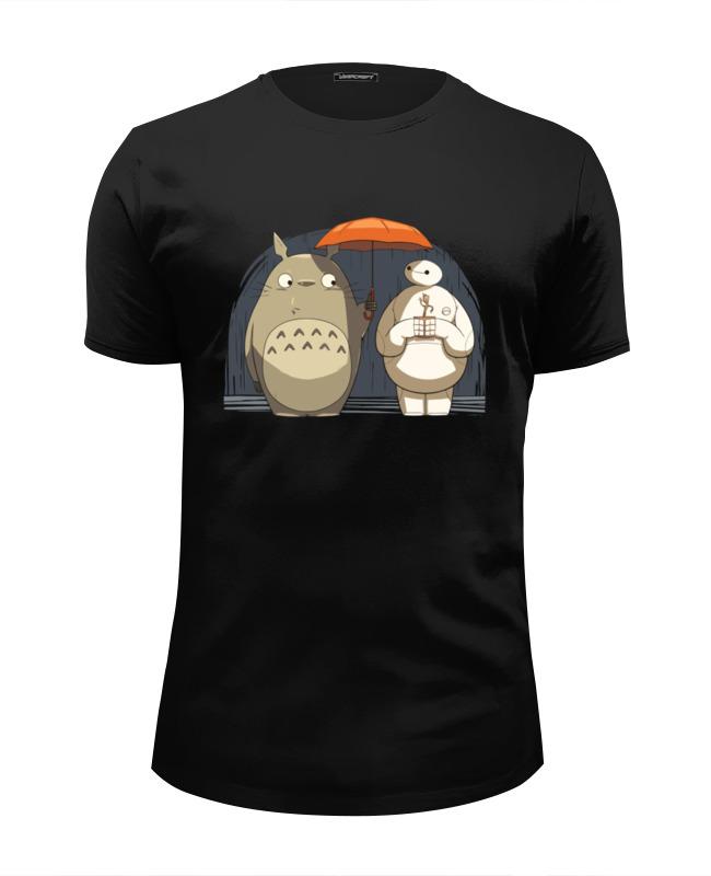 Футболка Wearcraft Premium Slim Fit Printio Totoro x baymax лонгслив printio totoro x baymax