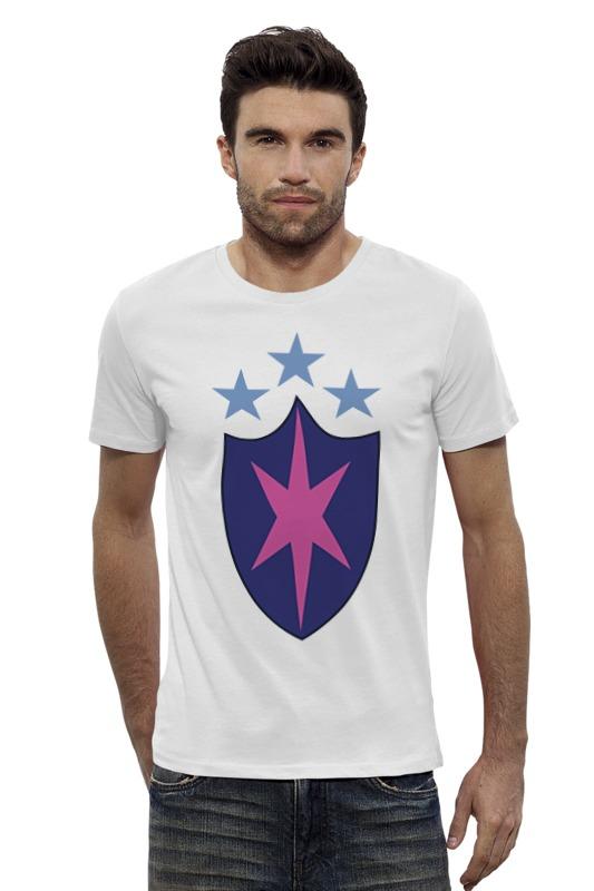 Футболка Wearcraft Premium Slim Fit Printio Щит (моя маленькая пони) футболка wearcraft premium slim fit printio моя печень ненавидит меня