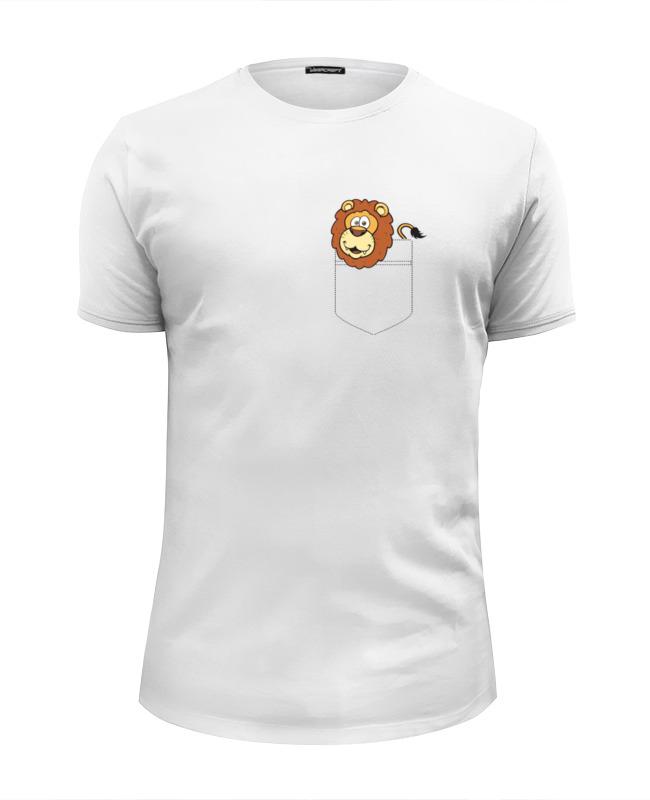 лучшая цена Футболка Wearcraft Premium Slim Fit Printio Лев (lion)