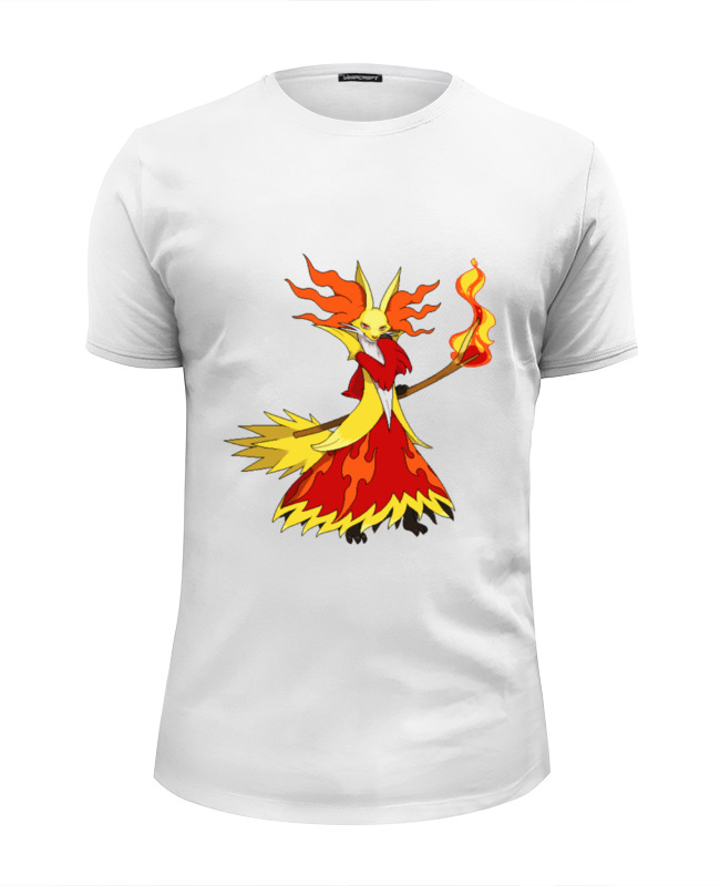 Футболка Wearcraft Premium Slim Fit Printio Покемон дельфокс футболка wearcraft premium slim fit printio огненный шар