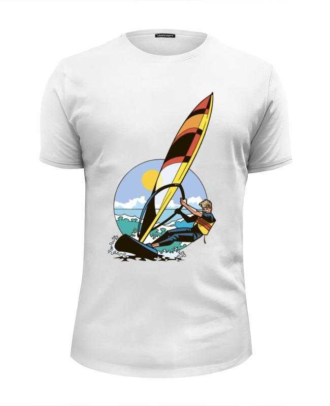 Футболка Wearcraft Premium Slim Fit Printio Спортсмен..отдых...пляж..море отдых в доме отдыха покровское