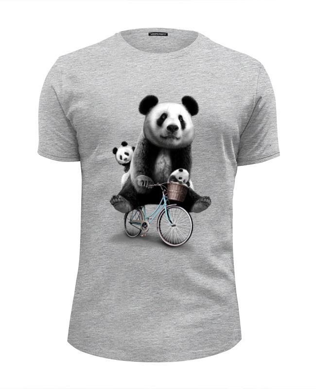 Футболка Wearcraft Premium Slim Fit Printio Панда на велосипеде футболка wearcraft premium slim fit printio уилл койот на велосипеде