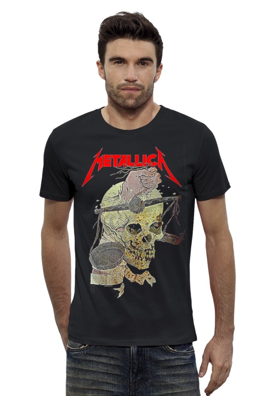 Футболка Wearcraft Premium Slim Fit Printio Metallica футболка wearcraft premium slim fit printio кит ричардс