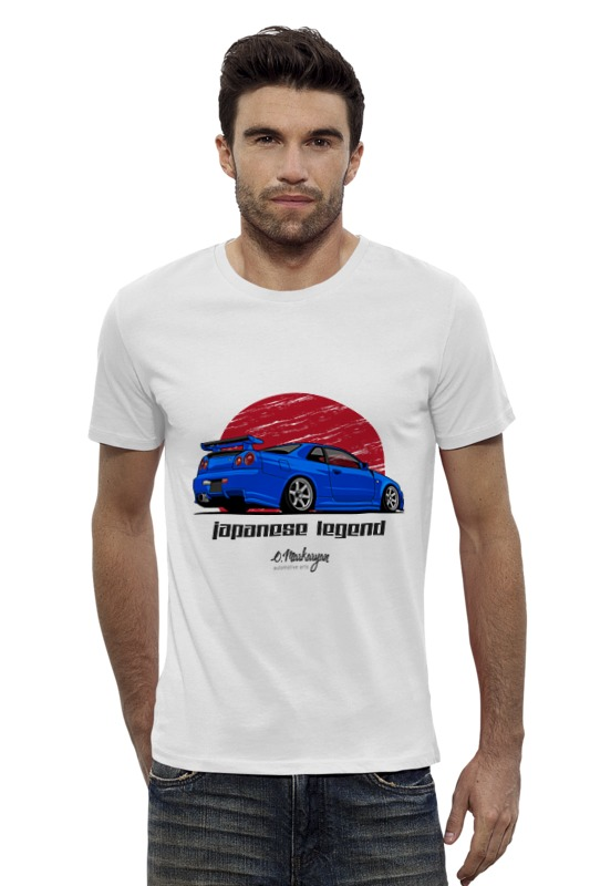 Футболка Wearcraft Premium Slim Fit Printio Skyline gt-r футболка wearcraft premium slim fit printio nissan skyline r34