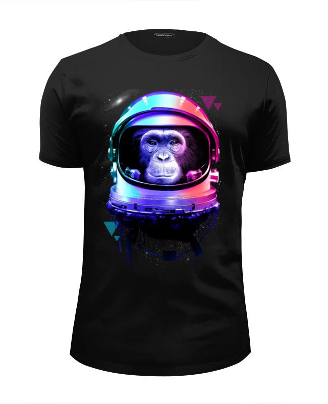 все цены на Футболка Wearcraft Premium Slim Fit Printio Обезьяна космонавт онлайн