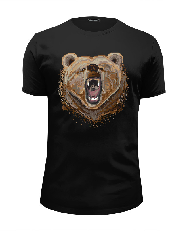 Футболка Wearcraft Premium Slim Fit Printio Пиксельный медведь футболка wearcraft premium slim fit printio пиксельный штурмовик