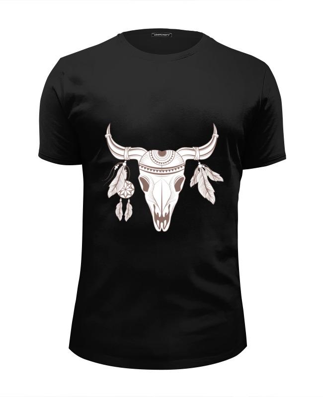 Футболка Wearcraft Premium Slim Fit Printio Бохо бык футболка wearcraft premium slim fit printio черный бык