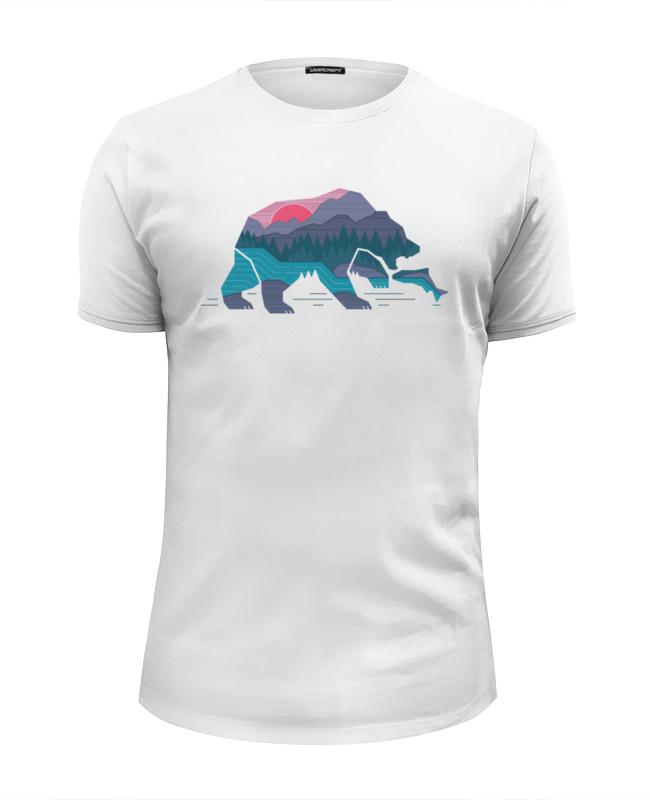Футболка Wearcraft Premium Slim Fit Printio Медведь на рыбалке цена 2017