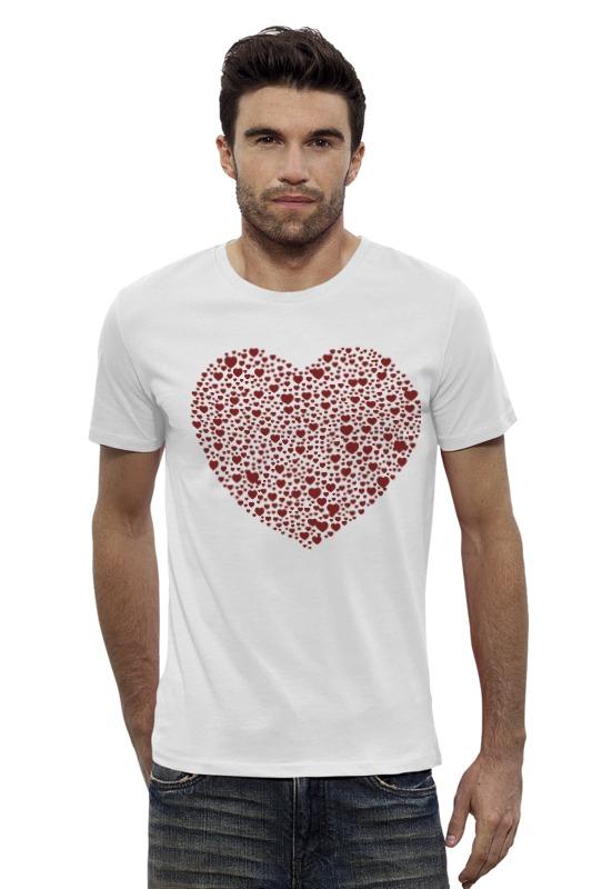 Футболка Wearcraft Premium Slim Fit Printio Сердца в сердце серая футболка wearcraft premium slim fit printio кит в банке