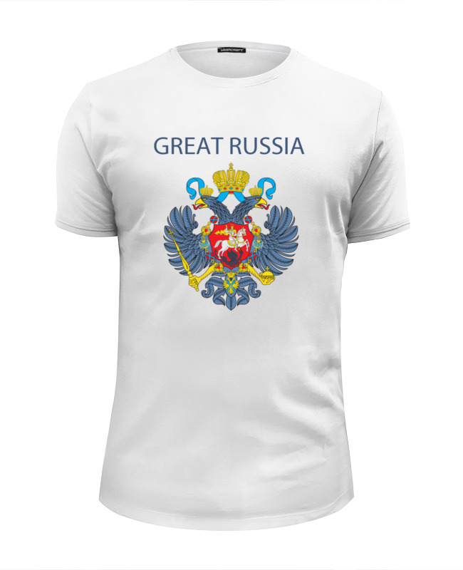 Футболка Wearcraft Premium Slim Fit Printio Great russia 8 футболка wearcraft premium printio welcome to russia