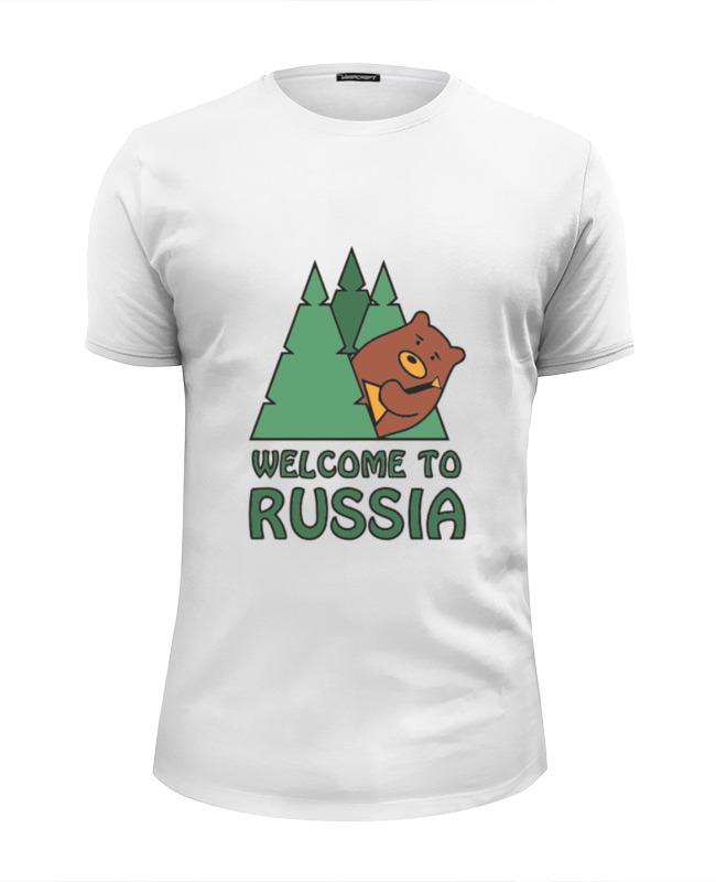 Футболка Wearcraft Premium Slim Fit Printio Welcome to russia футболка wearcraft premium printio welcome to russia