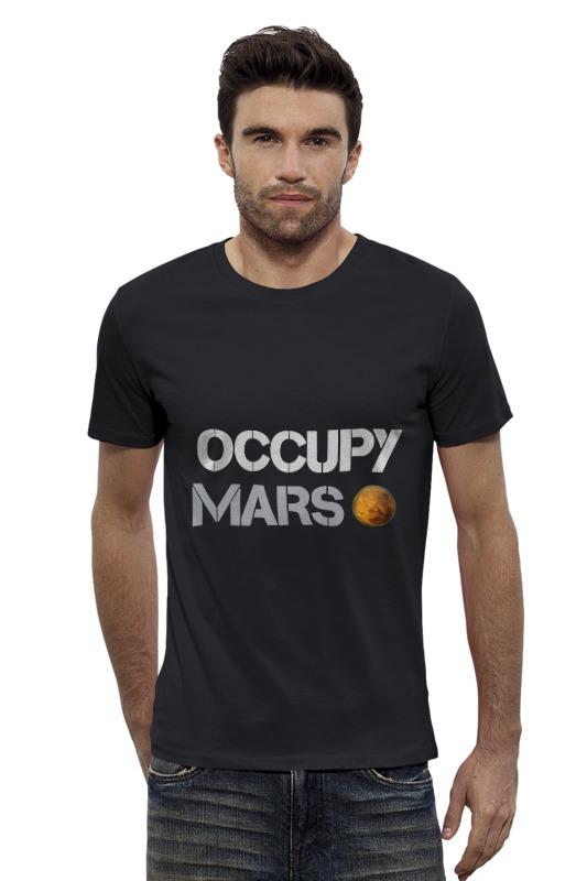Футболка Wearcraft Premium Slim Fit Printio Occupy mars 1pc used 140plc empty slot occupy 140xcp51000