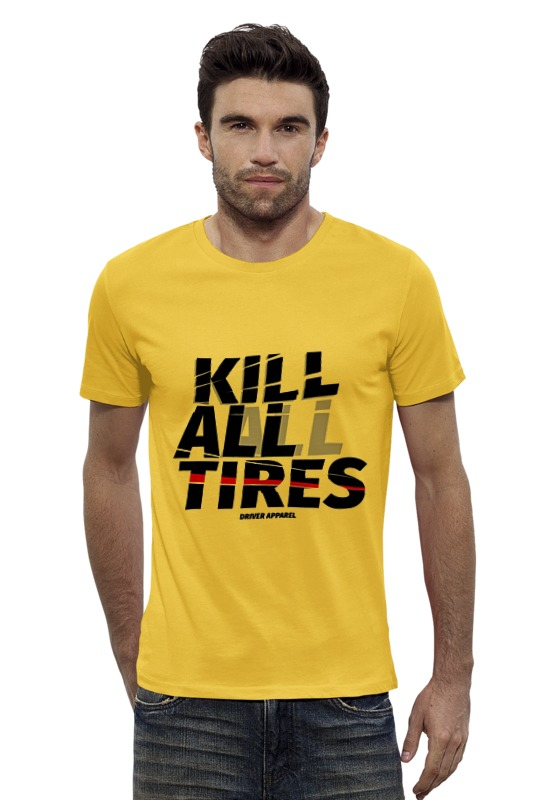 Футболка Wearcraft Premium Slim Fit Printio Kill all tires - drift car vans metallica kill em all