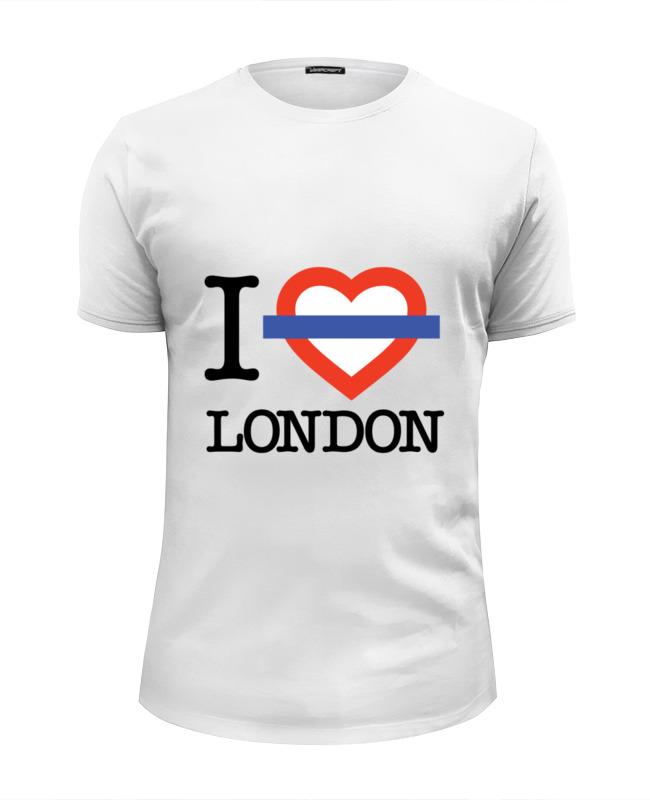 Футболка Wearcraft Premium Slim Fit Printio Люблю лондон сейф я люблю лондон