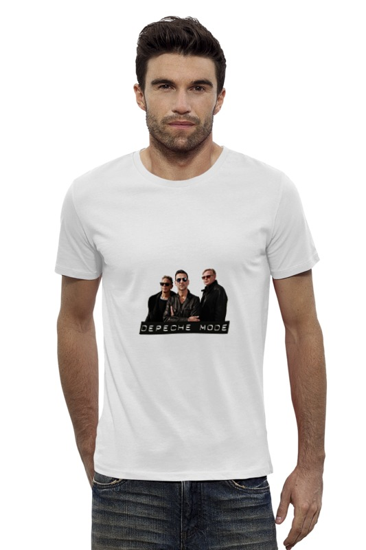 Футболка Wearcraft Premium Slim Fit Printio Depeche mode - the band футболка для беременных printio depeche mode the band