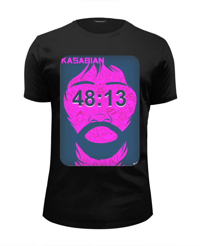 Футболка Wearcraft Premium Slim Fit Printio Kasabian - 48:13 cd kasabian 48 13