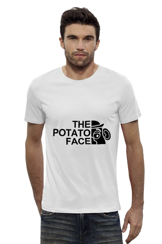 Футболка Wearcraft Premium Slim Fit Printio Картошка футболка wearcraft premium printio картошка