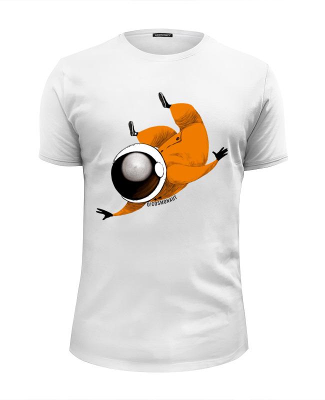 Футболка Wearcraft Premium Slim Fit Printio Космонавт левитирует футболка wearcraft premium slim fit printio космонавт и звёздочка хотят отправиться в космос