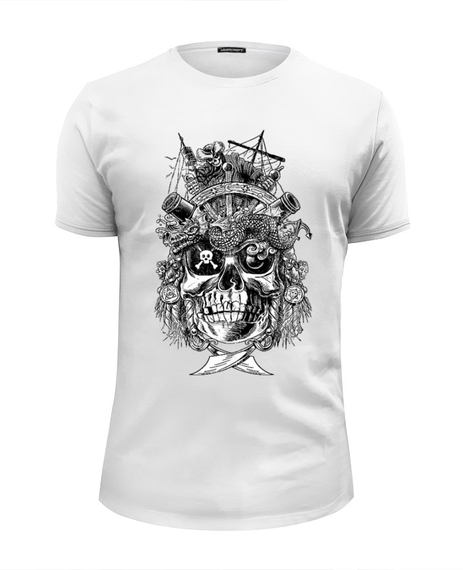 лучшая цена Футболка Wearcraft Premium Slim Fit Printio Pirates design