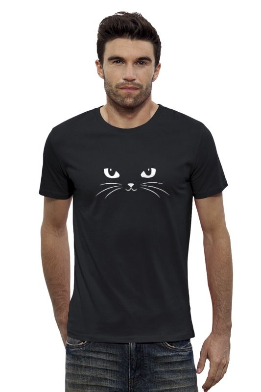 Футболка Wearcraft Premium Slim Fit Printio Black cat (черная кошка)