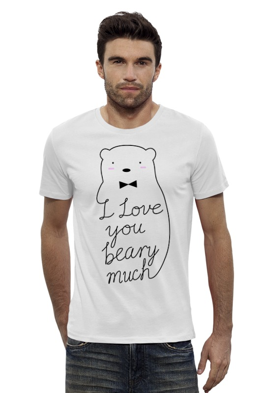 Футболка Wearcraft Premium Slim Fit Printio I love you beary much