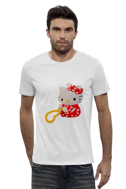Футболка Wearcraft Premium Slim Fit Printio Кошка кити.игрушка. мульт. kitty. футболка wearcraft premium slim fit printio кот кошка hello kitty любимый герой мульт