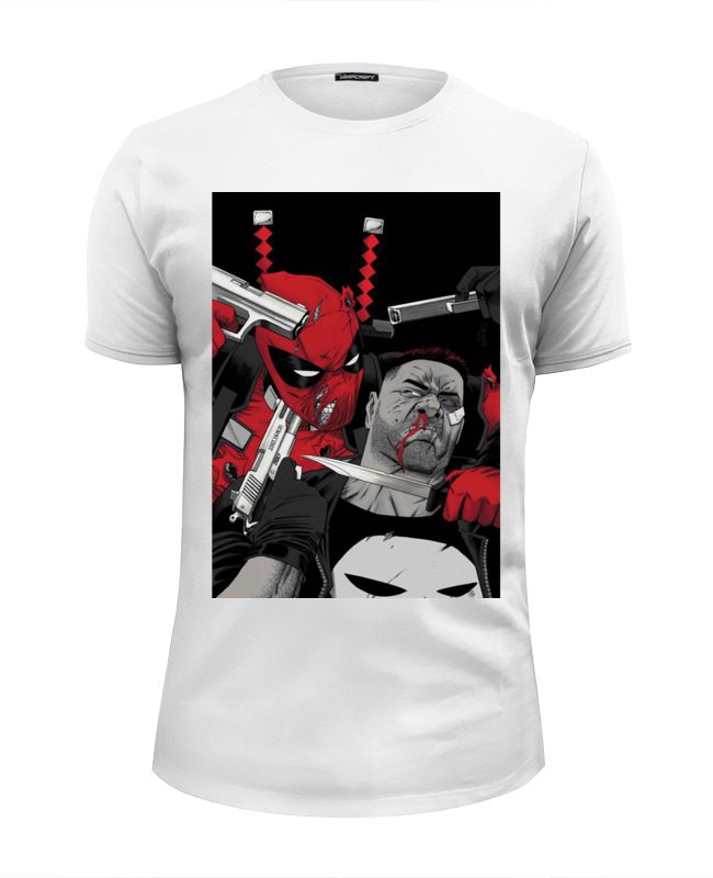 Фото - Футболка Wearcraft Premium Slim Fit Printio Deadpool vs punisher плакат a3 29 7x42 printio deadpool vs punisher