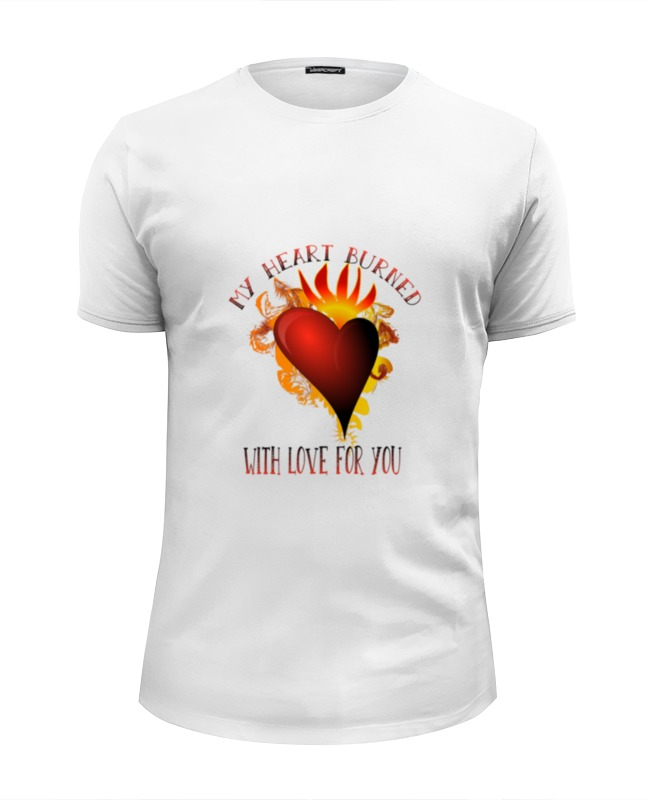 купить Футболка Wearcraft Premium Slim Fit Printio Мое сердце возгорелось любовью к тебе по цене 951 рублей