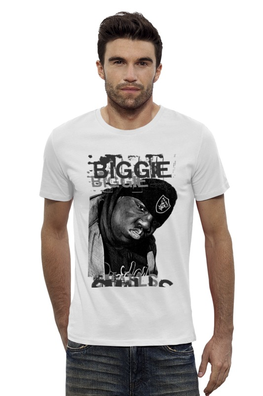 Футболка Wearcraft Premium Slim Fit Printio Notorious b.i.g. (biggie smalls) hip hop legend big biggie smalls counting money t shirt clothing men women plus size