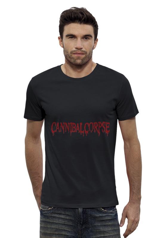 Футболка Wearcraft Premium Slim Fit Printio Cannibal corpse logo самые дешевые обои для стен брянск