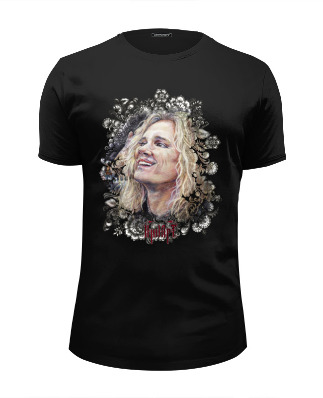 Футболка Wearcraft Premium Slim Fit Printio Michael starr steel panther rockhloma