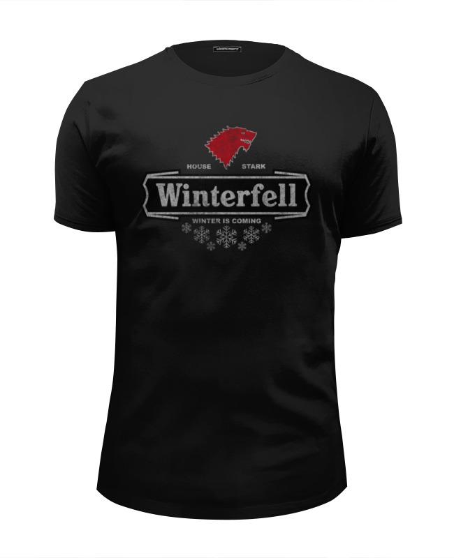 Футболка Wearcraft Premium Slim Fit Printio Винтерфелл. игра престолов кружка printio винтерфелл игра престолов