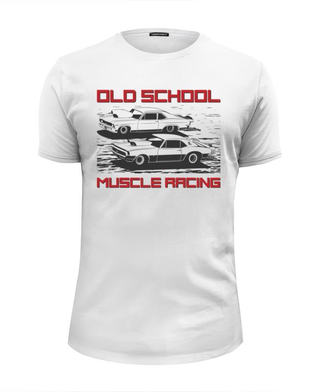 Футболка Wearcraft Premium Slim Fit Printio Old school. muscle racing herbal muscle