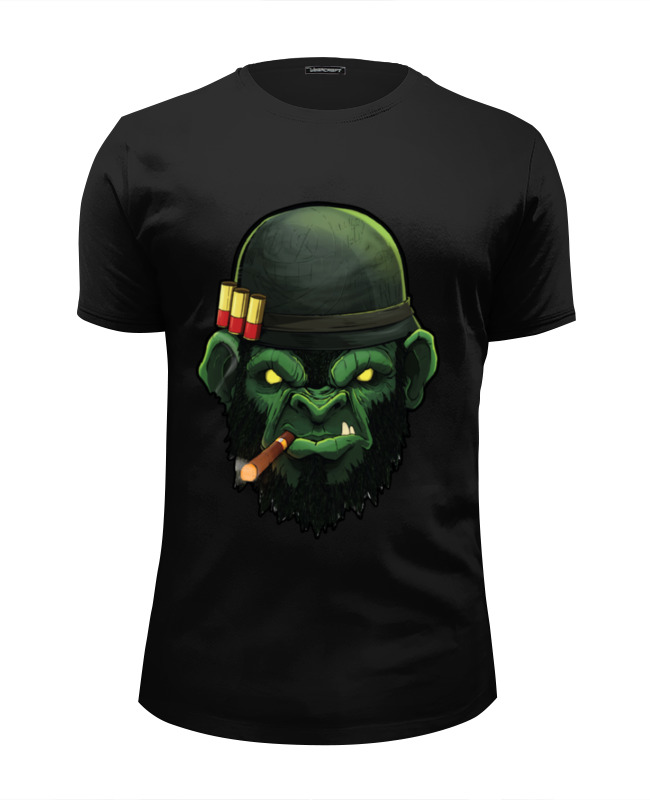 Футболка Wearcraft Premium Slim Fit Printio War monkey/обезьяна футболка wearcraft premium slim fit printio gears of war