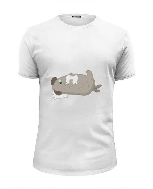 Футболка Wearcraft Premium Slim Fit Printio Спящий пёс футболка wearcraft premium slim fit printio спящий котёнок