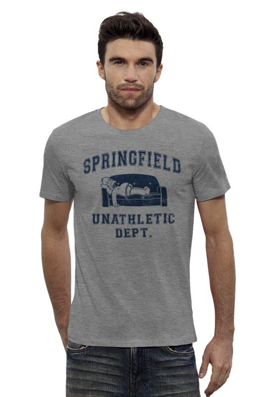 Футболка Wearcraft Premium Slim Fit Printio Springfield unathletic dept блуза dept цвет сиреневый