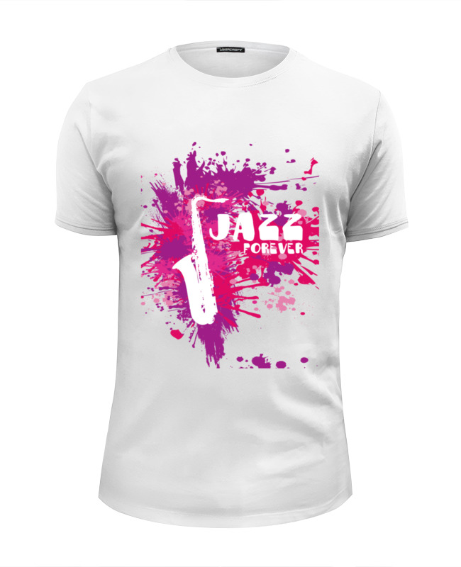 Футболка Wearcraft Premium Slim Fit Printio Jazz forever