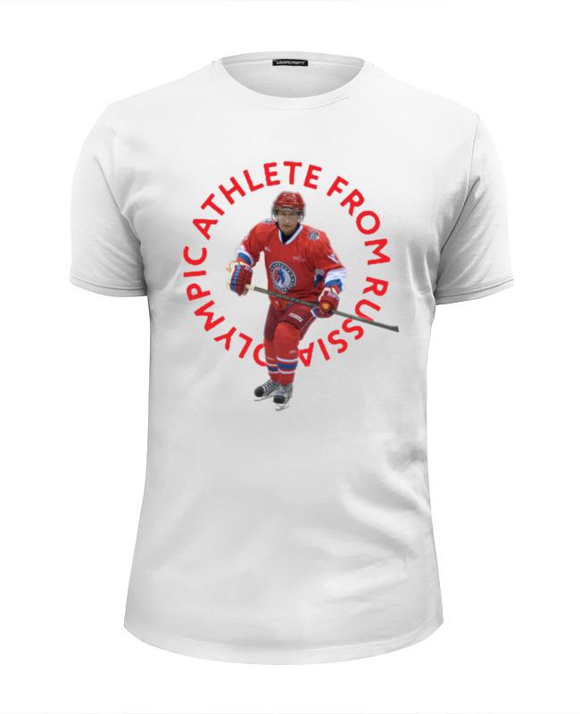 Футболка Wearcraft Premium Slim Fit Printio Олимпийский атлет из россии