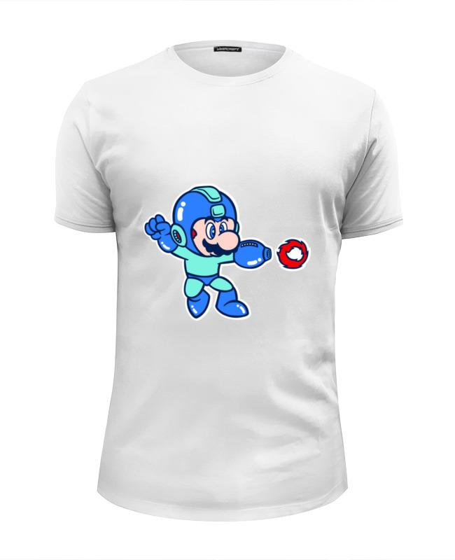Футболка Wearcraft Premium Slim Fit Printio Марио мегамен футболка wearcraft premium slim fit printio мегатрон мегамен