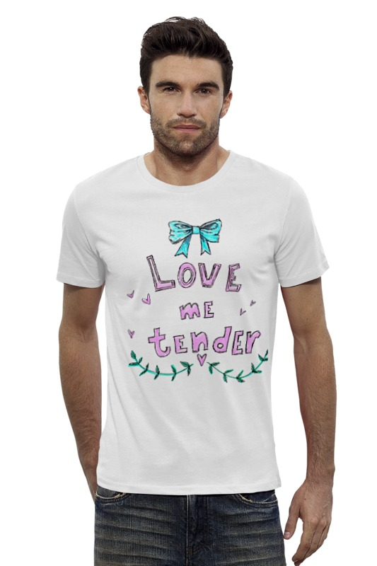 Футболка Wearcraft Premium Slim Fit Printio Love me tender сумка printio love me tender