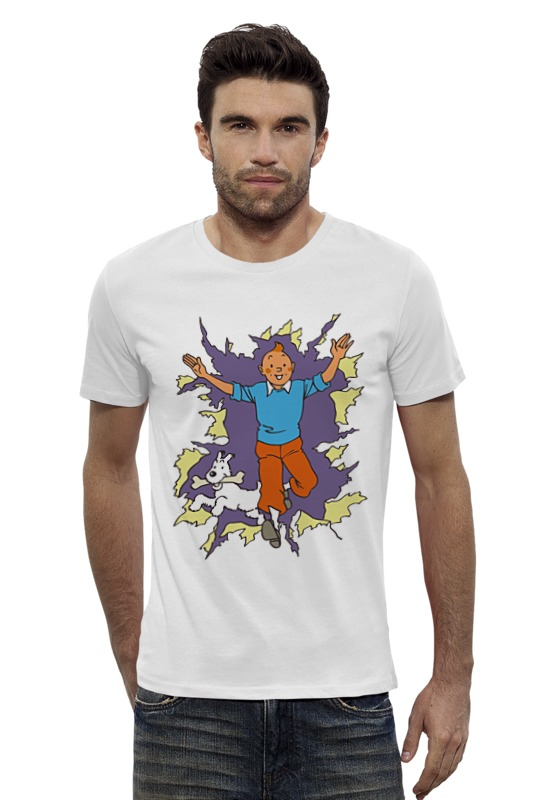Футболка Wearcraft Premium Slim Fit Printio Приключения тинтина футболка tintin lucky
