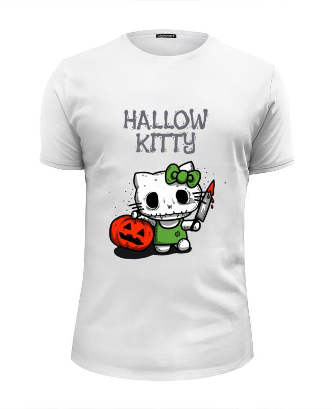 Футболка Wearcraft Premium Slim Fit Printio Hallow kitty слюнявчик printio hallow kitty