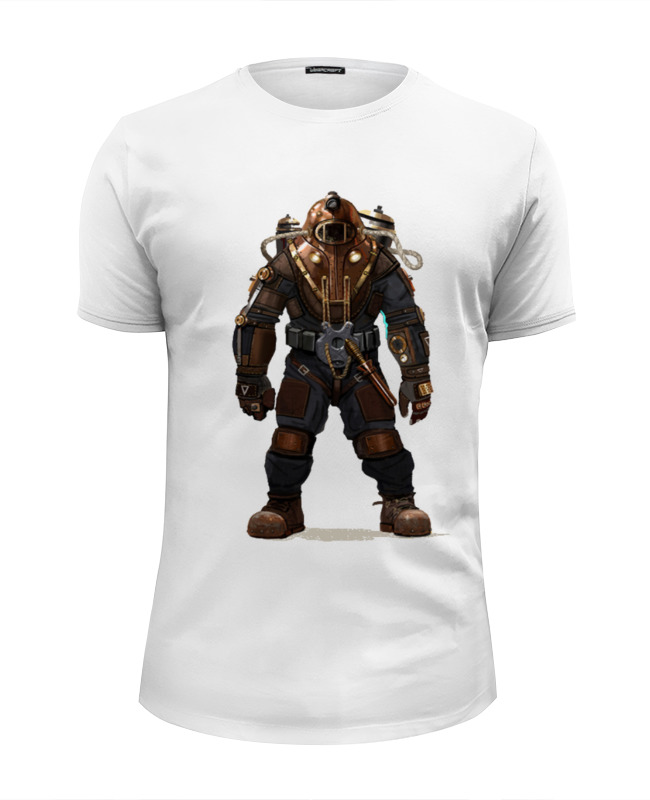 Футболка Wearcraft Premium Slim Fit Printio Bioshock 2 клапанный механизм without logo