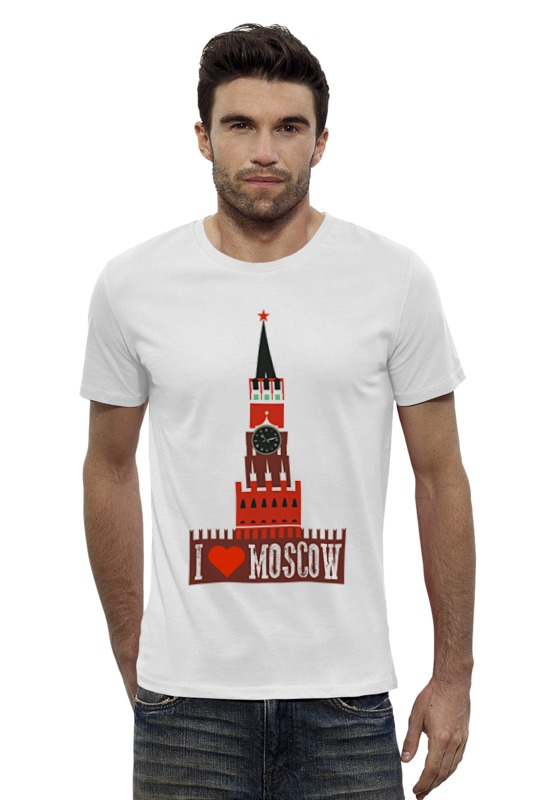 Футболка Wearcraft Premium Slim Fit Printio Я люблю москву - i love moscow футболка wearcraft premium slim fit printio i love science я люблю науку