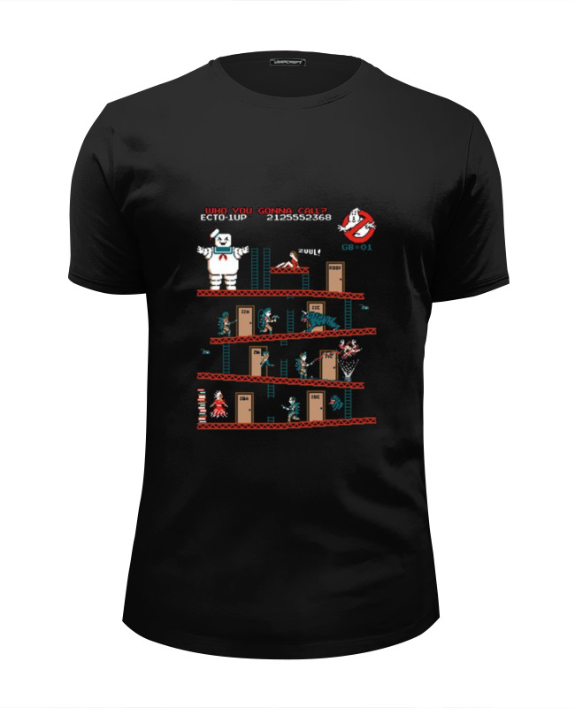 Футболка Wearcraft Premium Slim Fit Printio Охотники за привидениями футболка wearcraft premium slim fit printio работаю за еду