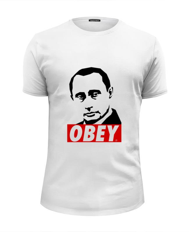 Футболка Wearcraft Premium Slim Fit Printio Путин obey футболка wearcraft premium slim fit printio kirill obey