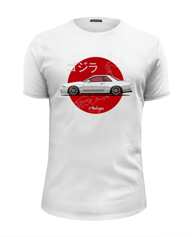 Футболка Wearcraft Premium Slim Fit Printio Nissan skyline r32 gt-r