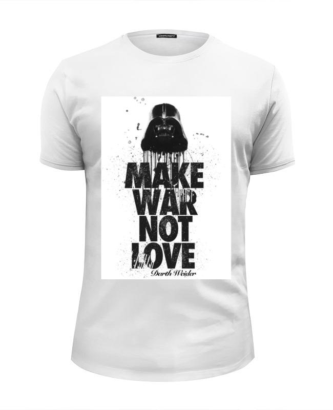 Футболка Wearcraft Premium Slim Fit Printio Make war not love by darth weider футболка классическая printio make war not love by darth weider