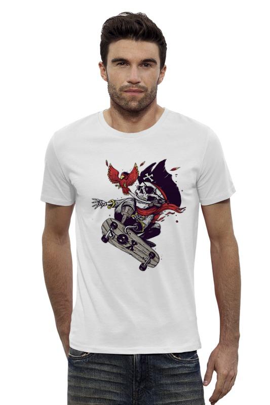 Футболка Wearcraft Premium Slim Fit Printio pirate skateboarding -  пиратский скейтбординг bmbe табурет pirate