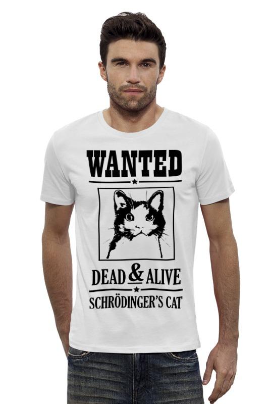 Футболка Wearcraft Premium Slim Fit Printio Кот шрёдингера кот шрёдингера